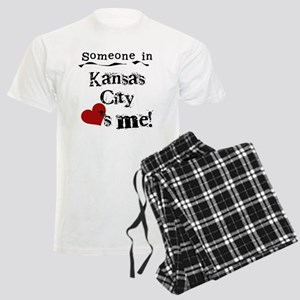 Kansas City Loves Me Men's Light Pajamas